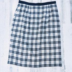 Vintage 80s Plaid Highwaisted Pencil Skirt
